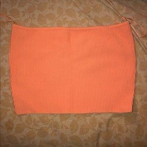 Neon orange Tube Top